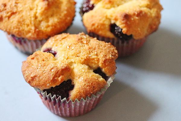 Lemon Blackberry Ricotta Muffins | Krafted by Kelly